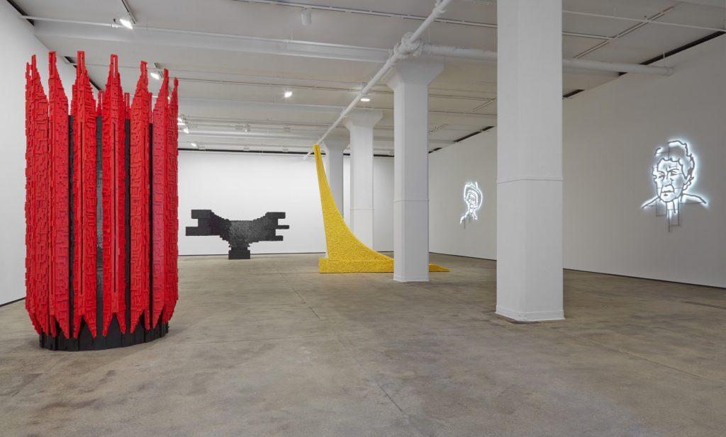 Installation view of Los Carpinteros: Irreversible at Sean Kelly, New York