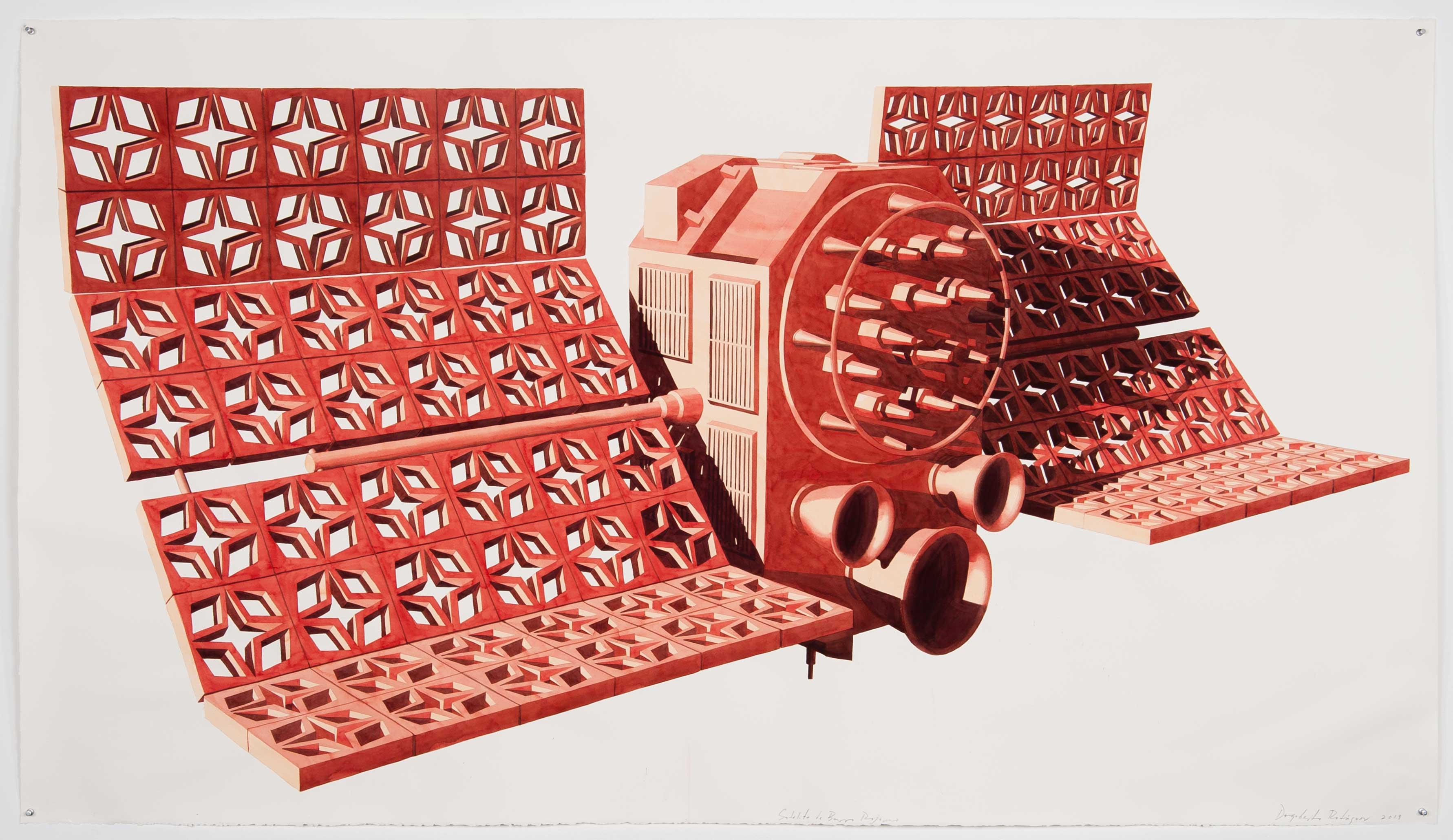Satélite de Barro, rojo