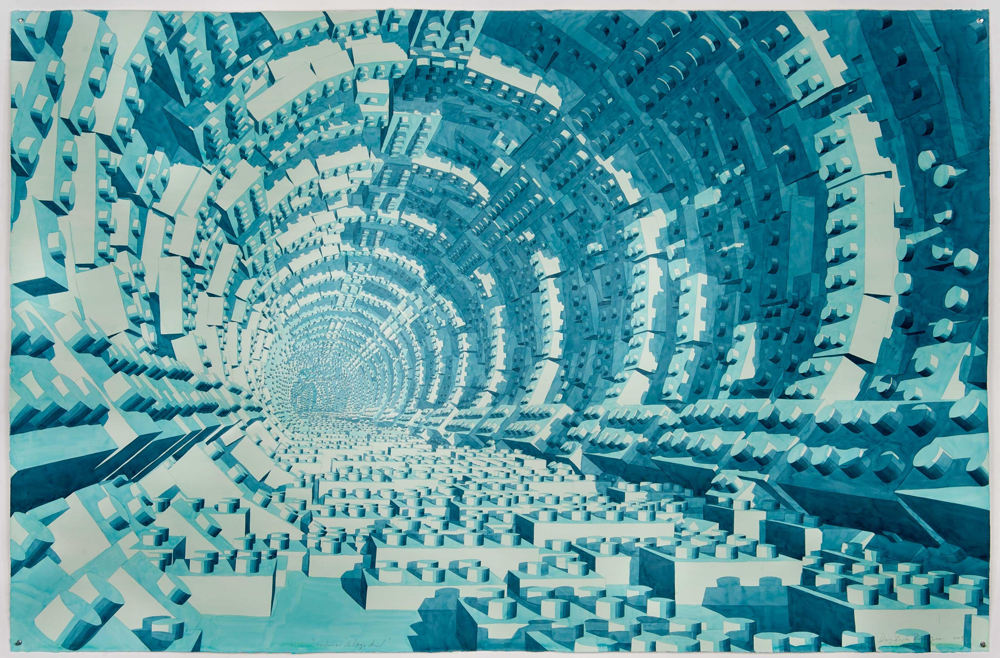 Interior de Lego Azul